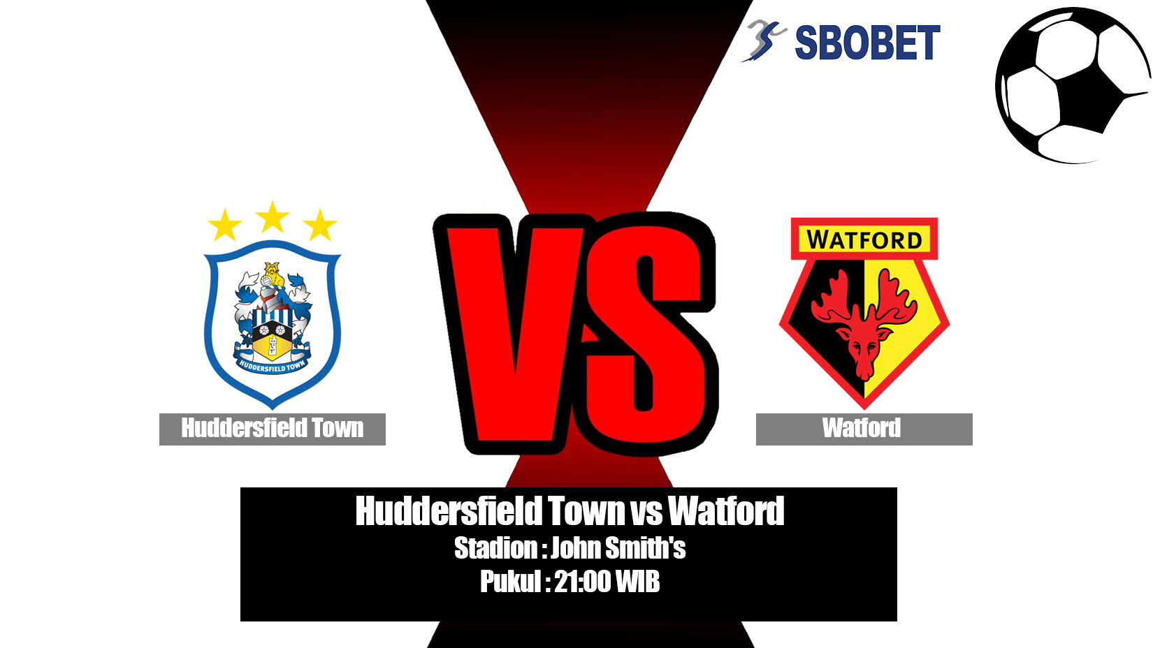 Prediksi Bola Huddersfield Town vs Watford 20 April 2019