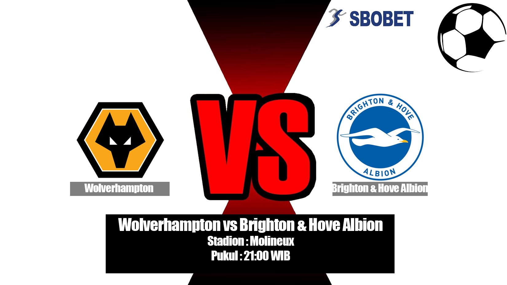 Prediksi Bola Wolverhampton vs Brighton & Hove Albion 20 April 2019