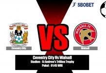 Prediksi Coventry City Vs Walsall 04 September 2019
